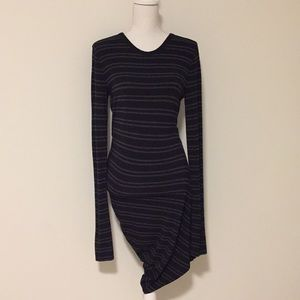 T Alexander Wang Asymmetrical Striped Dress!!